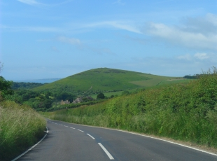 Driving into Lulworth